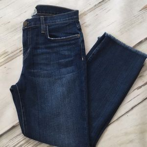 Current Elliot The Kick Crop Jeans Blue Denim 29